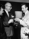 Billy Daniels, Mitchell Leisen and Don Loper Laughing Together at the Fashion Show Premium Photographic Print