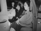 Maria Amora Quezon Riding in a Car with Mrs. Douglas Macarthur and Her Mother, Mrs. Manuel Quezon Premium Photographic Print