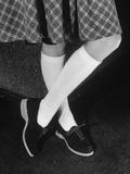 """Cafelet"" Knee-High Socks for College Coeds Premium Photographic Print"