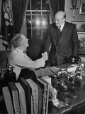 Polish Prime Minister Stanislaw Mikelajczyk Shaking Hands with Franklin Roosevelt Premium Photographic Print