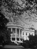 Exterior View of the White House Premium Photographic Print