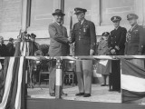 General Harry S. Truman Awarding Oak Leaf to George C. Marshall Premium Photographic Print