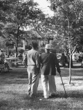 People Enjoying the Church Picnic Premium Photographic Print