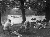 Picnickers Sprawled About Premium Photographic Print