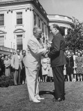 President Harry S. Truman Awarding the Distinguished Service Medal Toe Stephen T. Early Premium Photographic Print