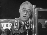 President Franklin D. Roosevelt Speaking During His Campaign Premium Photographic Print