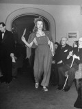 Model Participating in Fashion Show Held by Berlin Couturiers Premium Photographic Print