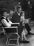 Director Preston Sturges Sitting with His Wife, Louise Sargeant Tevis and Son Solomon Premium Photographic Print