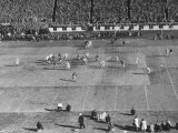 The US Army Playing a Football Game Against the US Navy Premium Photographic Print