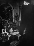 "Actress Gloria Swanson and William Holden in Scene from ""Sunset Boulevard"" Photographic Print"