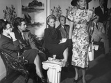 Elliott Gibbons and His Wife, Anita Colby, Arthur Schwartz Watching Models at Fashion Show Premium Photographic Print