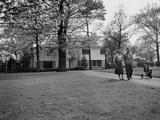 Bergen Evans and His Family, Walking Premium Photographic Print