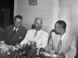 President Harry Truman and Julius Krug Visiting with Governor William Hastie of St Thomas Premium Photographic Print