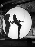 "Actress Carole Landis Performing the Flame Dance Sequence for the Movie ""Scandal in Paris"" Premium Photographic Print"