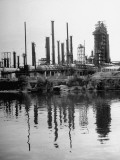 Exterior of Sinclare Refinery in Houston Premium Photographic Print