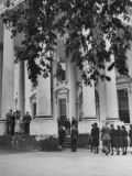 People Watching as Honor Guard Carries Coffin of President Franklin Roosevelt into the White House Premium Photographic Print
