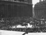 Crowds Leaving the Memorial Service at St. Paul's Church, for Franklin D. Roosevelt Premium Photographic Print