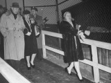Mrs. Harry S. Truman and Margaret Truman Leaving Army-Navy Football Game Premium Photographic Print