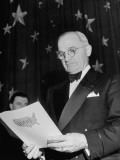 President Harry S. Truman Attending 1000 Club Dinner Premium Photographic Print