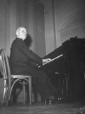 Senator Harry S. Truman Playing the Piano at a Congressional Dinner for the Press Premium Photographic Print