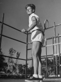 Betty Carstairs Playing Tennis Premium Photographic Print
