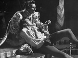 "Terence Morgan Performing as Laertes, Who Has Just Been Stabbed with a Poisoned Sword in ""Hamlet"" Premium Photographic Print"