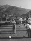 Guests Playing Putt-Putt Golf at Catalina Island Premium Photographic Print