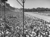 A View of the Preakness Dog Race on the Pimlico Race Tracks Premium Photographic Print