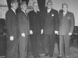 President Harry S. Truman Posing with Jewish Veterans at the White House Premium Photographic Print