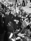 Sisters of the Sacred Heart Nuns Waiting to Board Ship Premium Photographic Print
