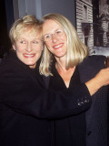 "(L-R): Actress Glenn Close and Sister Jessie at Film Premiere of ""Life Is Beautiful"" Premium Photographic Print"