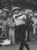 Golfer Sam Snead Playing in US Open Tourment Premium Photographic Print