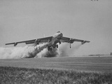 Sac's B-47 Bomber Plane in a Rocket-Assisted, Take-Off Premium Photographic Print
