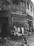 A Canton Tailor Located in Chungking Premium Photographic Print