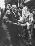 The Premier of Nationalist China, Chen Cheng, Visiting Chinatown in NYC Premium Photographic Print