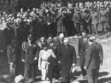 President Harry Truman and His Family Attending the Funeral of President Franklin Roosevelt Premium Photographic Print