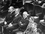 Members of President Harry Truman's Cabinet Listening to Him Speak at a Joint Session of Congress Premium Photographic Print