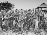 American Army Rangers and Filipino Guerillas Celebrating their Successful Raid to Free Pow's Held Premium Photographic Print