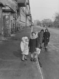 Children Wearing Heavy Coats During the Spring Fashion Premium Photographic Print