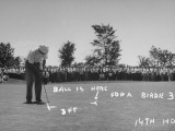 Golfer Byron Nelson Putting for a Birdie on 14th Hole Photographic Print