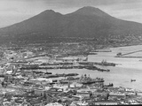 US Naval Ships Sailing Through Naples Harbor Premium Photographic Print