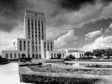 Exterior View of the Civic Center, City Hall, and the Music Hall Premium Photographic Print