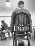 A Mentally Disturbed Patient in the North Little Rock Hospital for War Veterans Premium Photographic Print
