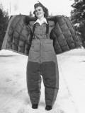 Pan American Arctic Stewardess Mildred Giller Premium Photographic Print