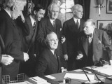 President Harry Truman with the Delegation to the San Francisco Conference Premium Photographic Print