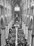 Thanksgiving Service in Reims Cathedral Premium Photographic Print