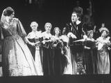 "Opera Singers Joan Sutherland and Richard Tucker in ""Lucia Di Lammermoor"" at the Metropolitan Opera Premium Photographic Print"