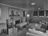 President Harry S. Truman's Study and Lounge Adjoining His Bedroom on His Yacht Premium Photographic Print
