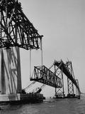 Chesapeake Bay Bridge, Final Span of 4-Mile-Long Bridge Fitted into Place Impressão fotográfica