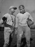 Paul Sarringhaus Talking with His Football Coach Premium Photographic Print